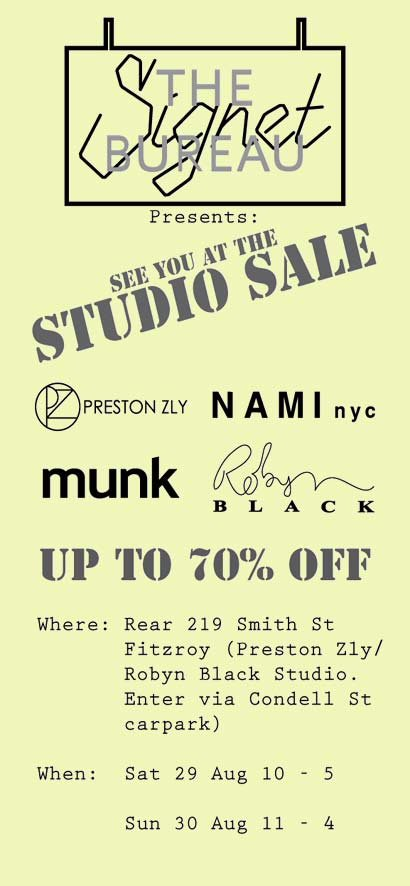 TSB Studio Sale 0809
