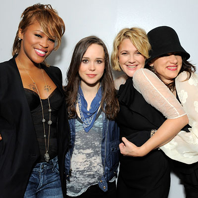 Eve, Ellen Page, Drew Barrymore and Juliette Lewis
