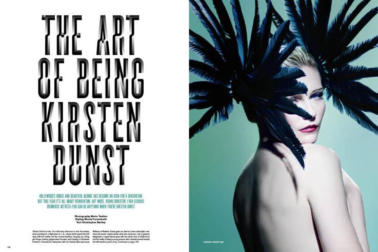 The Art of Being Kristen Dunst ::: V Magazine Issue #64 ...